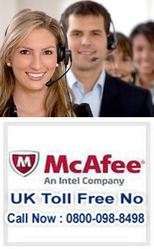 McAfee Tech Support - Help | Call 0800-098-8498